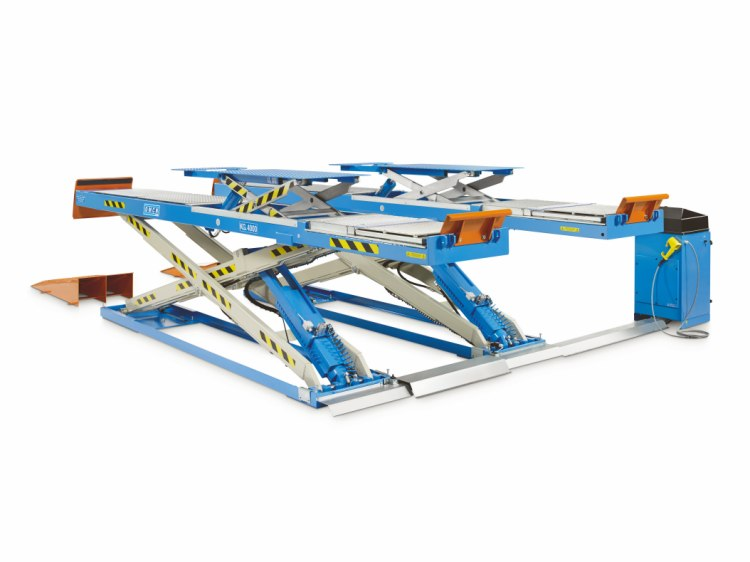 Electrohydraulic scissor lifts