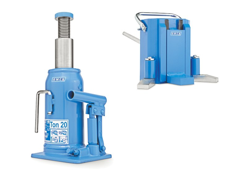 Hydraulic bottle jacks and hydraulic track jacks