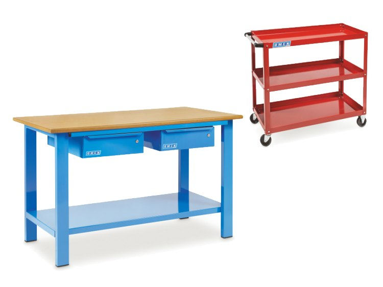 Trolleys and workbenches